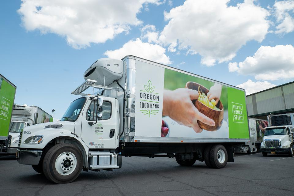 Oregon Food Bank truck