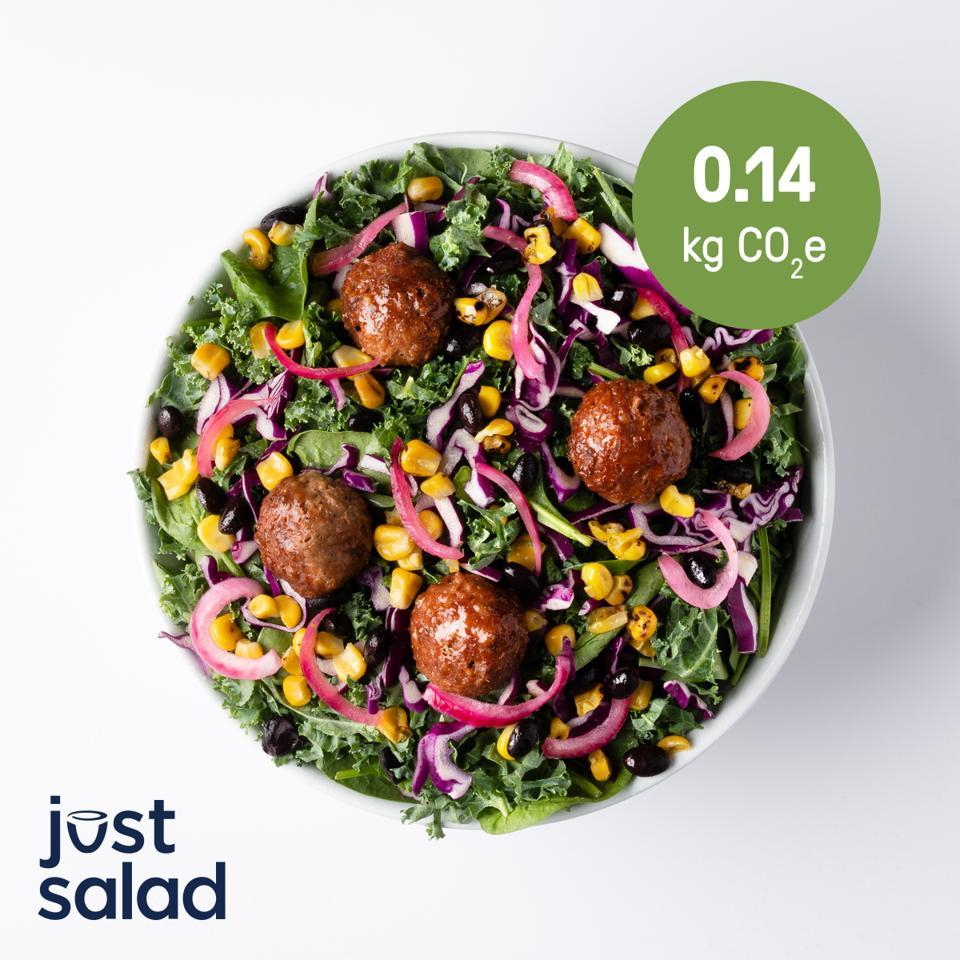 Beyond Meat Tex Mex Salad, a Low Carbon Emissions Menu Item