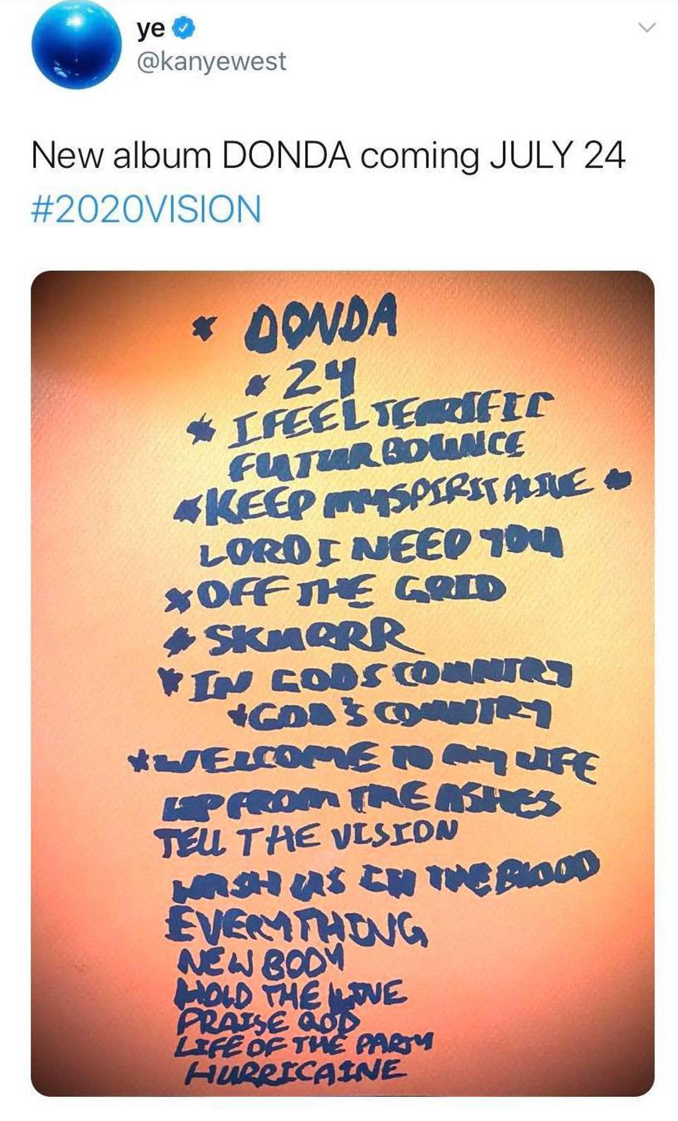 Kanye West Donda tracklist