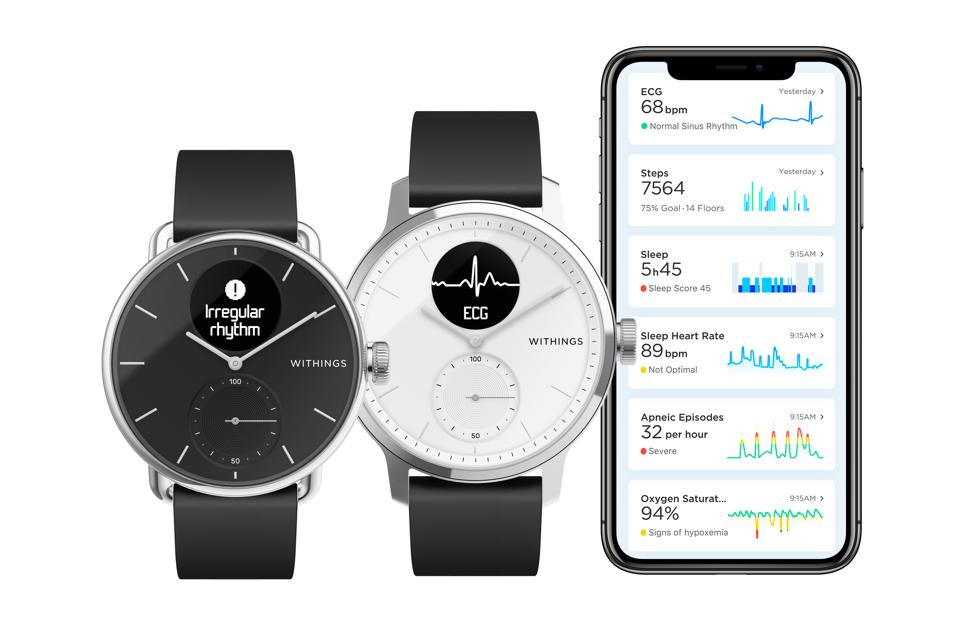 Withings ScanWatch comes in two sizes and works with a companion app