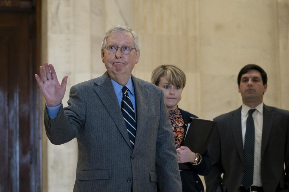 Senate In Session To Work On Stimulus Package As Coronavirus Takes Toll On Economy