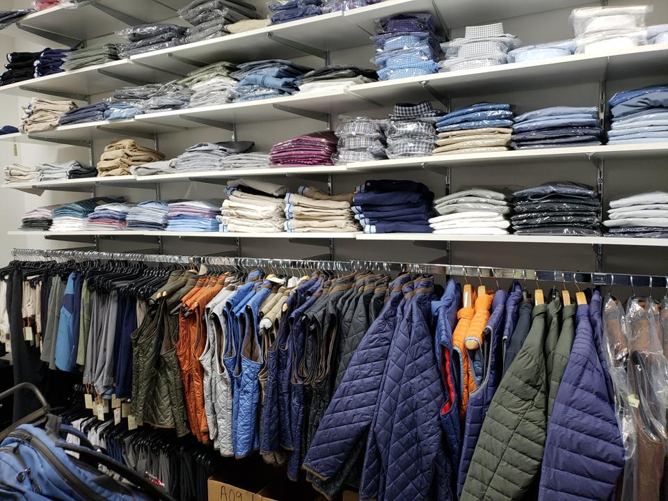 Retail store stockroom photo
