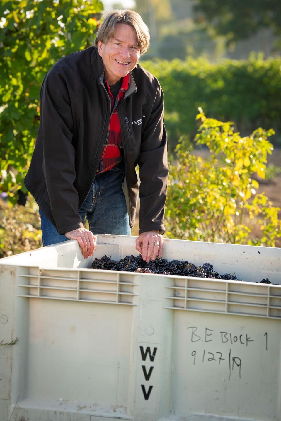 Willamette Valley Vineyard's CEO and founder Jim Bernau