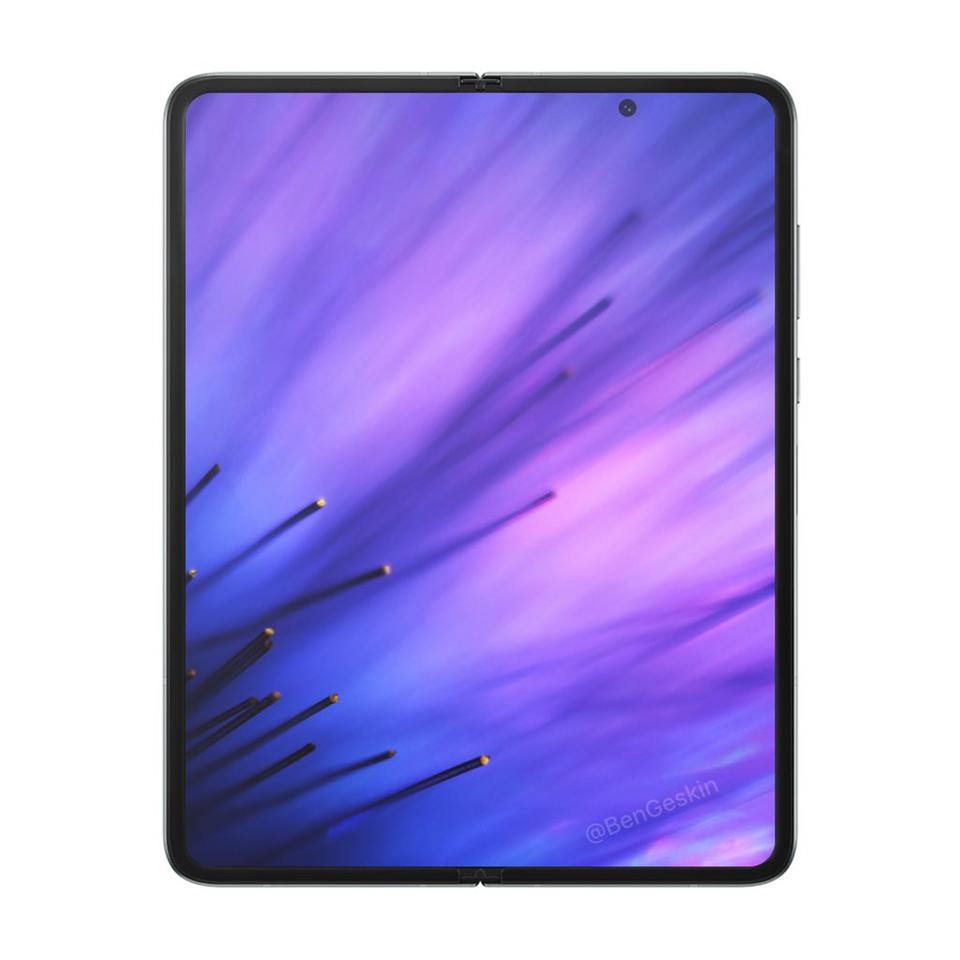 A render of the Samsung Galaxy Fold 2 by leaker and concept creator Ben Geskin.