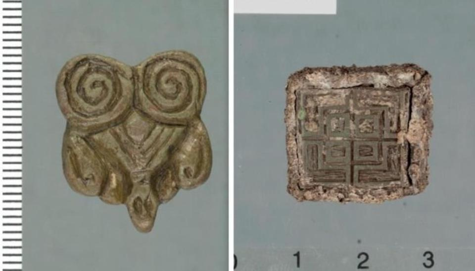 Two examples of the Viking Age hoard discovered in northern Norway.