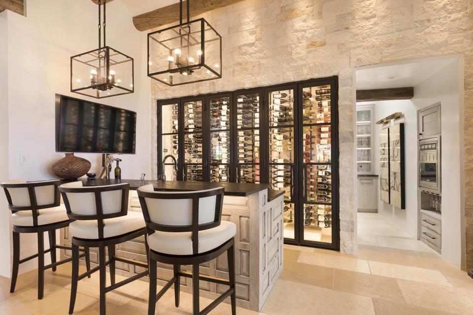 Elegant wine cabinet