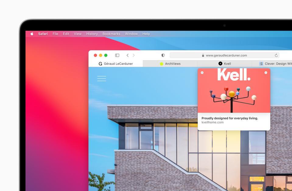 Tabs are improved in macOS Big Sur in Safari