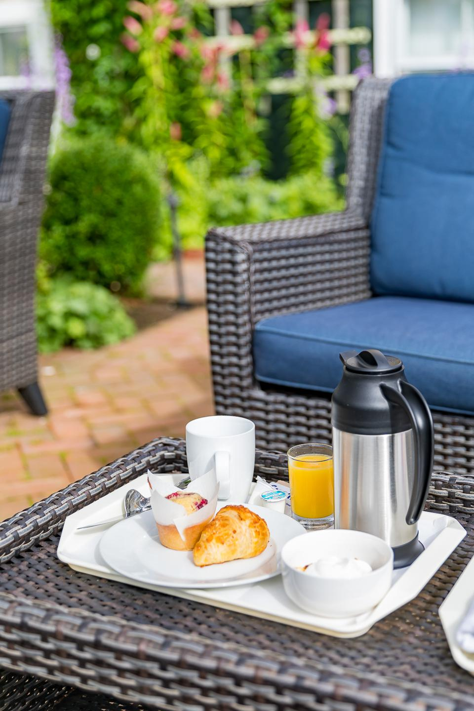 Nantucket, MA - A complimentary breakfast at the Brass Lantern Inn