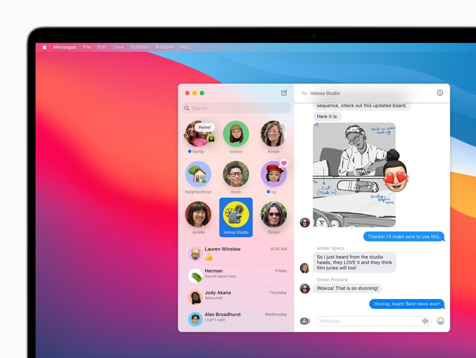 Messages gets a face lift in macOS Big Sur