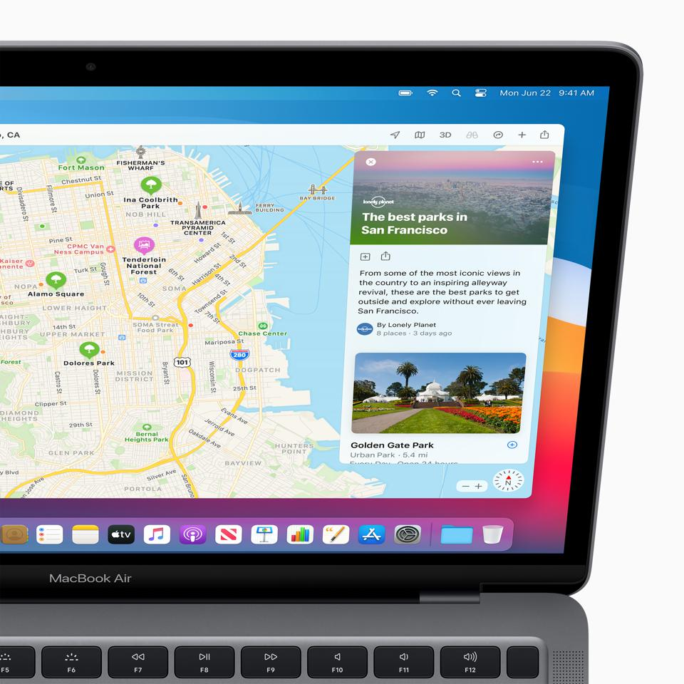 Maps include guides in macOS Big Sur