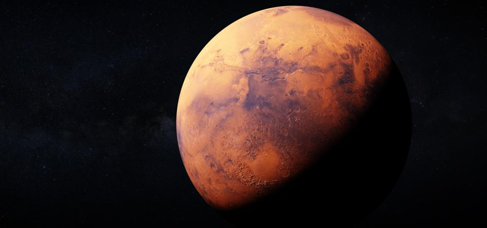 The 'red planet' is steadily fading, but for now it's still very easy to see through between dusk and after midnight.