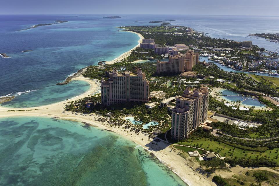 Atlantis Resort Paradise Island in Nassau, Bahamas.