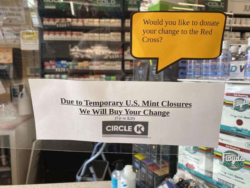 Sign at gas station