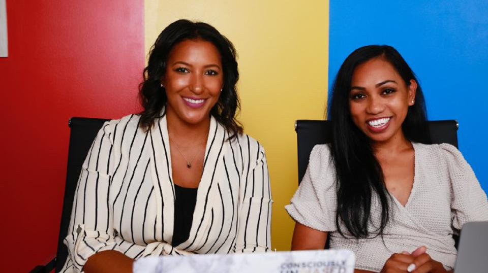 Dawn Dickson, founder and CEO of Popcom, and Natasia Malaihollo, Wyzerr founder and CEO