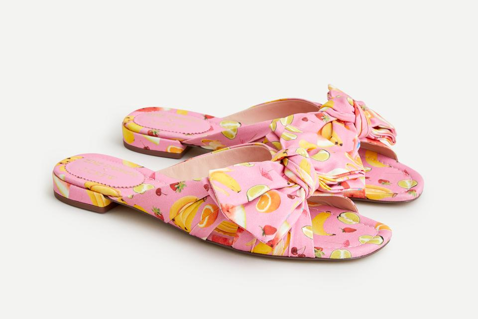 Edie Parker Bow Lucy Slide, $138.00