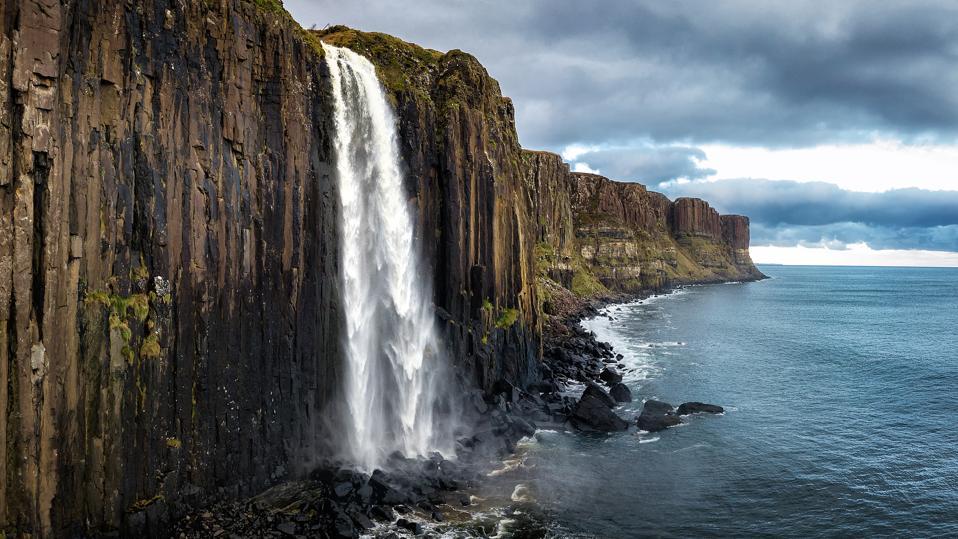 Kilt Rock and Mealt Falls , Isle of Skye, Scotland, UK.