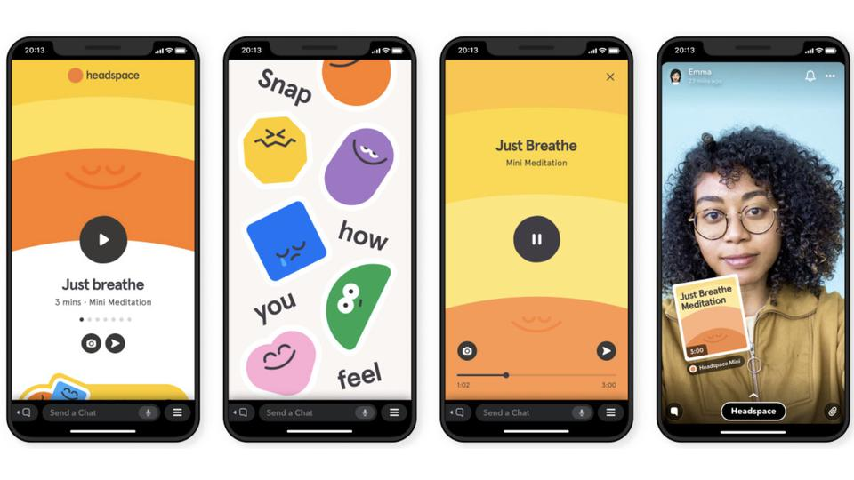 Headspace Minis in Snapchat
