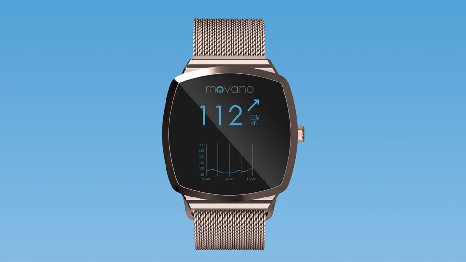 A rendered image of Movano's glucose monitoring wearable.