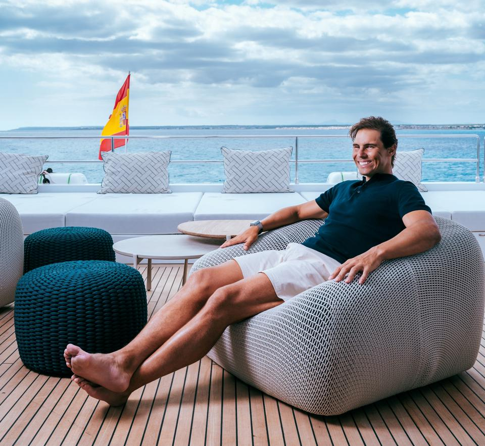With Rafael Nadal's  on the Sunreef 80 Catamaran ″Great White″