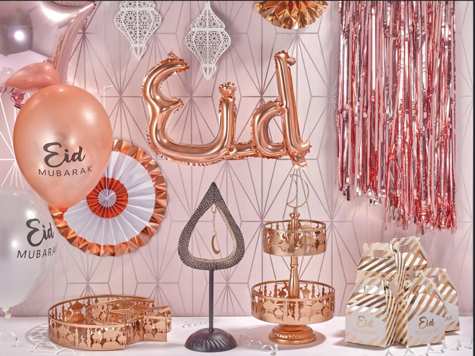 Eid decorations with balloons.