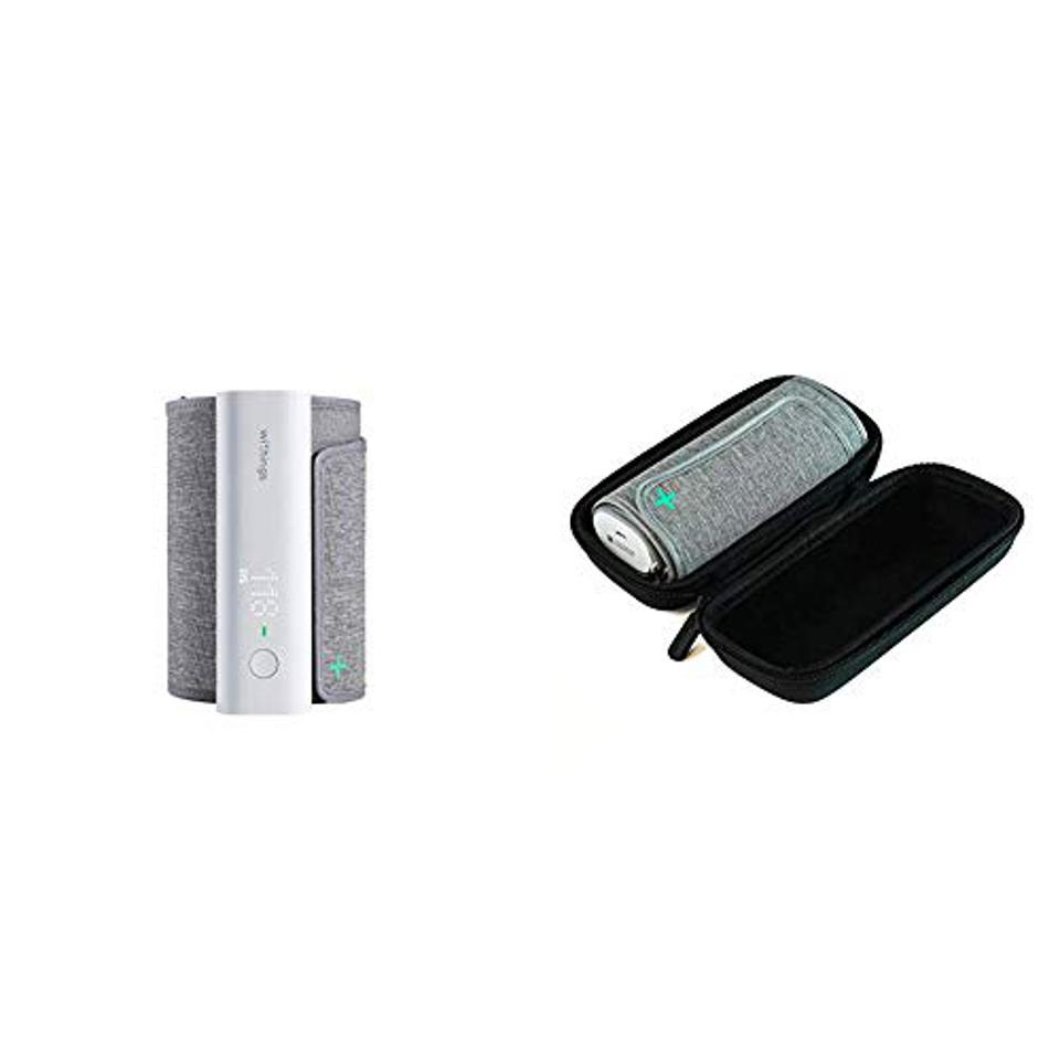 The Withings BPM Connect blood pressure monitor with Carrying Case