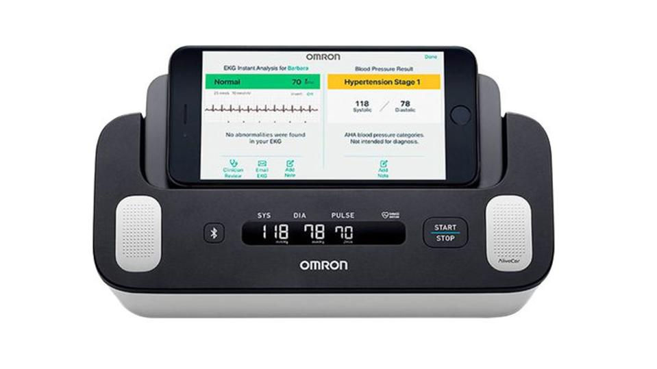 The Omron Complete blood pressure monitor with EKG