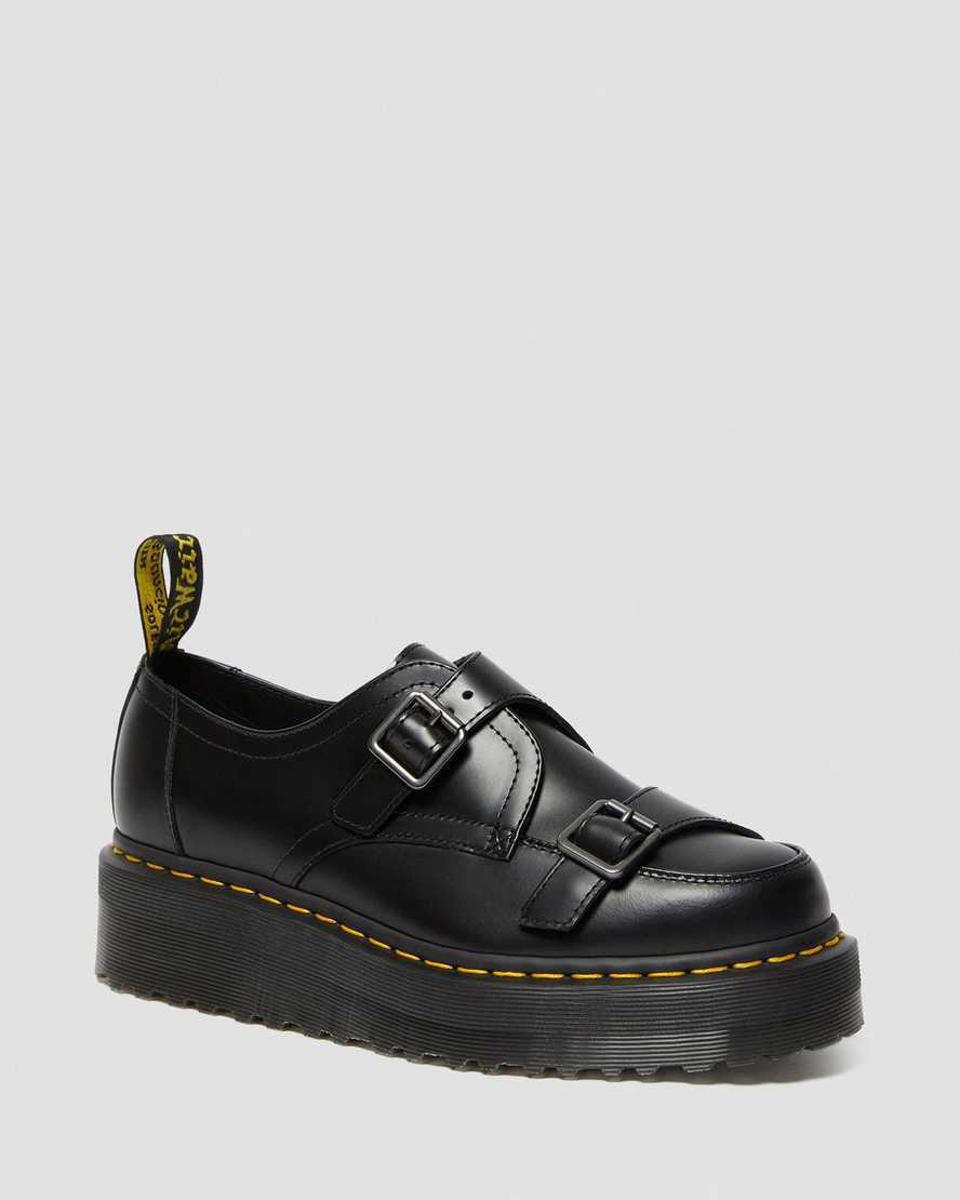 The Dr. Martens Sidney Monk Strap Creeper combines the much-loved trend of chunky soles with the classic monk strap silhouette.