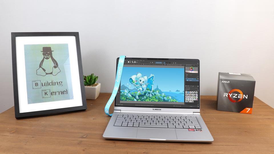The 3rd generation KDE Slimbook with AMD Ryzen 7 4800H processor