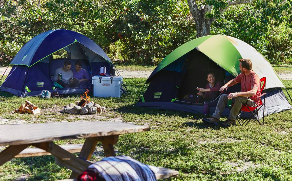 Tents and a campsite