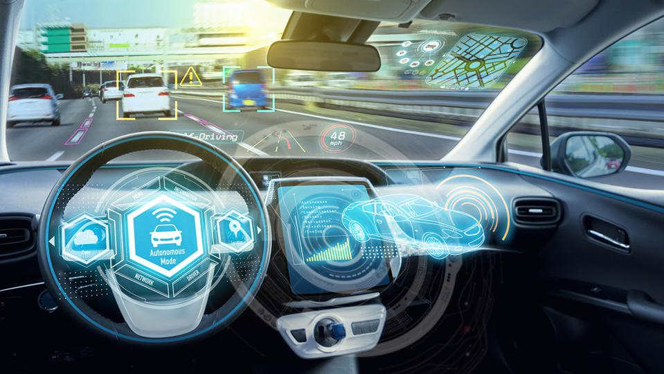 Driverless cockpit of an autonomous car.