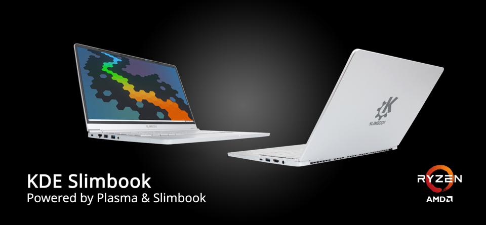 Another look at the KDE Slimbook, featuring AMD Ryzen 4000 processors.