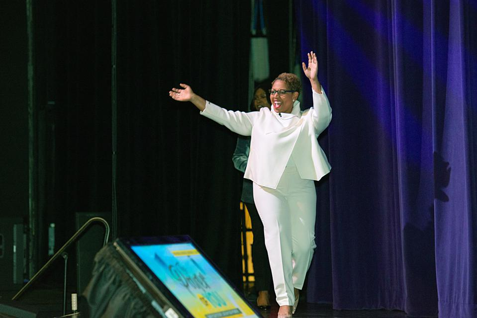 Dr. Charlotte Jones-Burton at the 2019 WOCIP Conference.