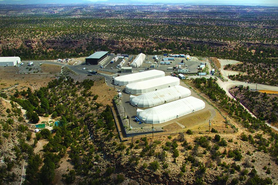 Area G, the legacy waste storage area at Los Alamos National Labs.