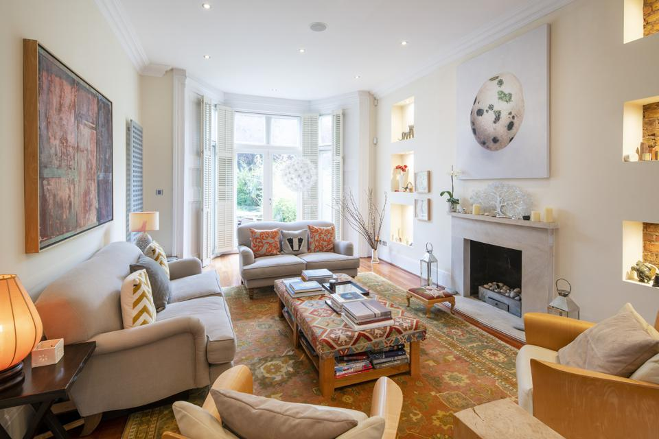 Drawing room that opens onto the rear garden