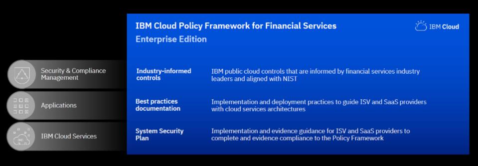 IBM Cloud Policy Framework for Financial Services