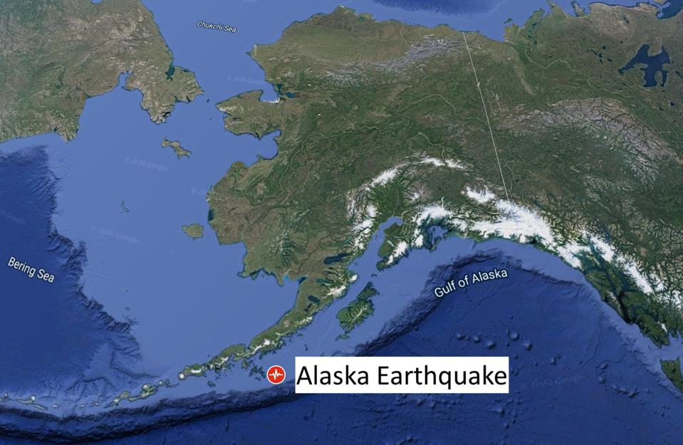 Alaska Earthquake that struck July 21, 2020.