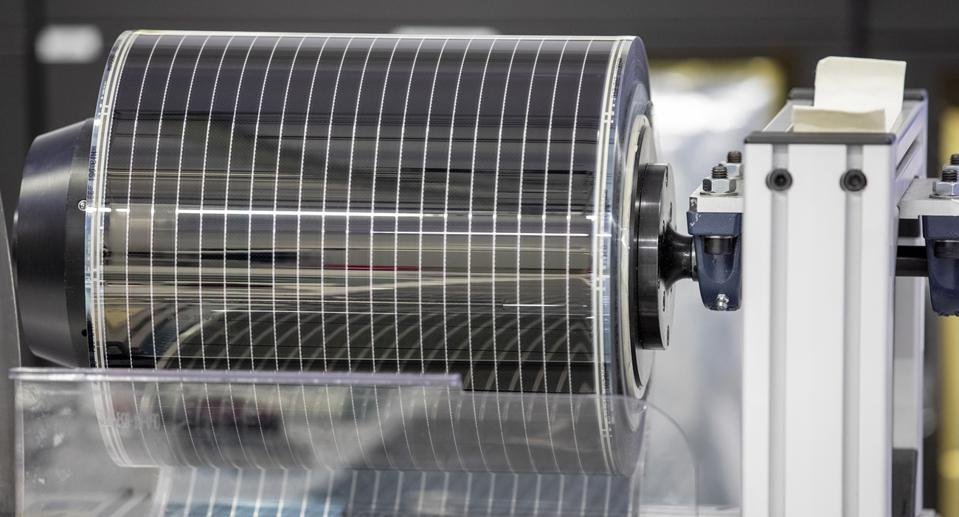 Production line of Armor's thin-film solar cell in Nantes, on the Loire River in western France