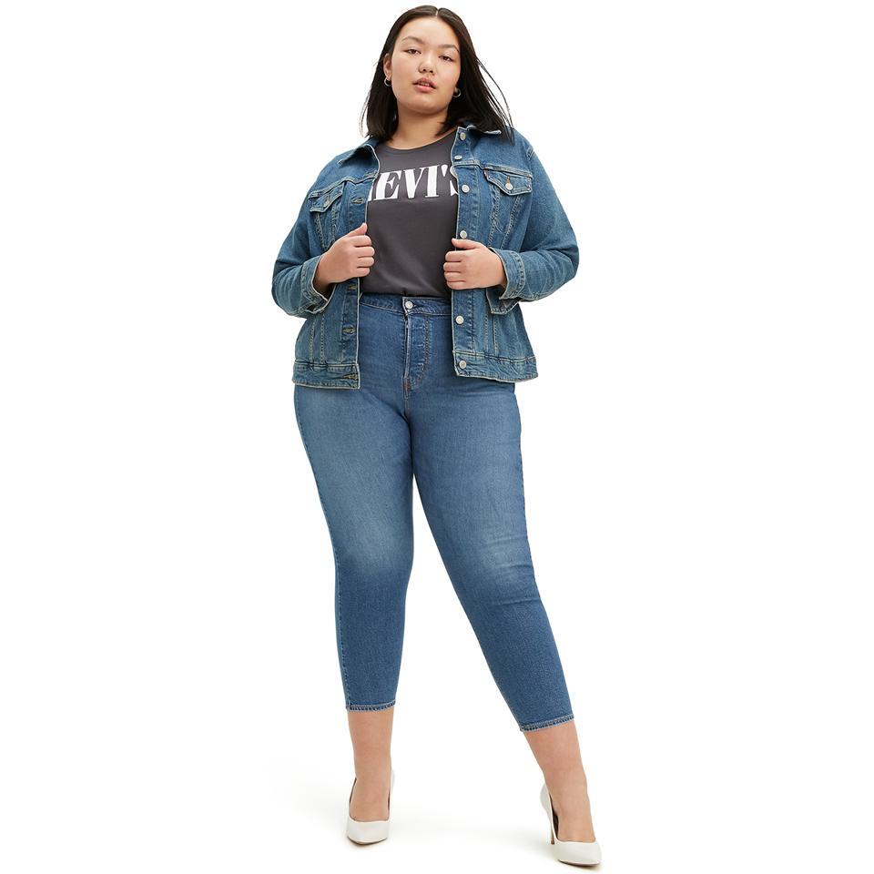 12 size Denim Look Stretch Elasticated waist jeggings Slim Fit For ladies D-Blue