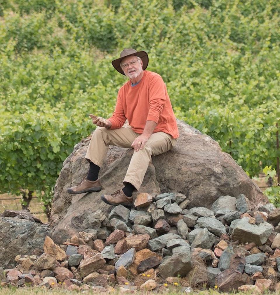 Earl Jones at his winery.
