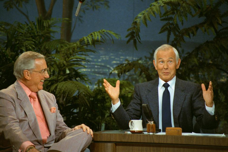 Johnny Carson and Ed McMahon on The Tonight Show