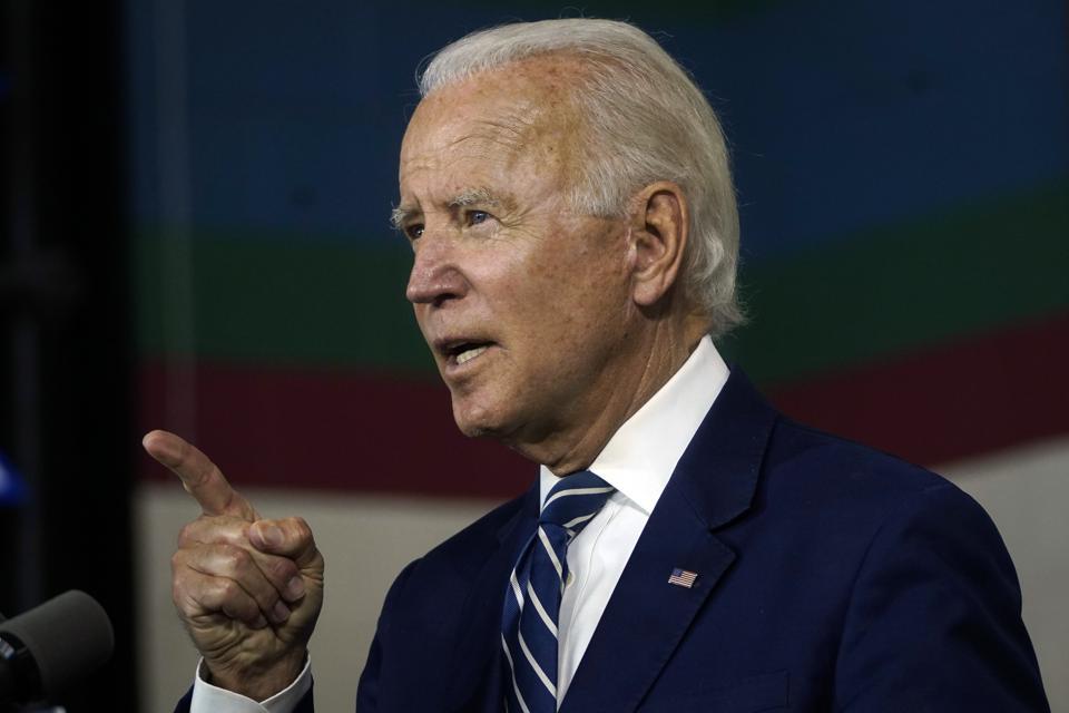 Democratic Presidential Candidate Joe Biden Speaks On Economic Recovery Plan in Delaware