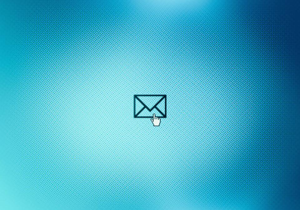 Mail icon on monitor screen