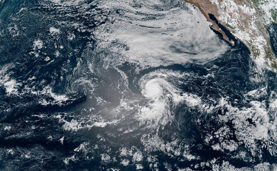 A satellite image of Hurricane Douglas on July 22, 2020.