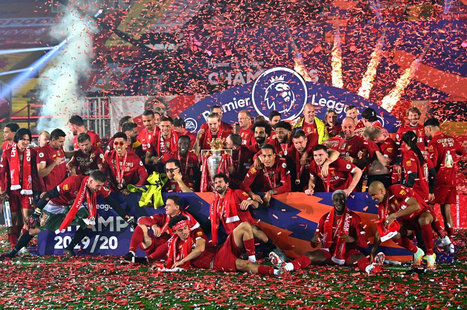 Liverpool Lift Premier League Trophy After Goal Filled