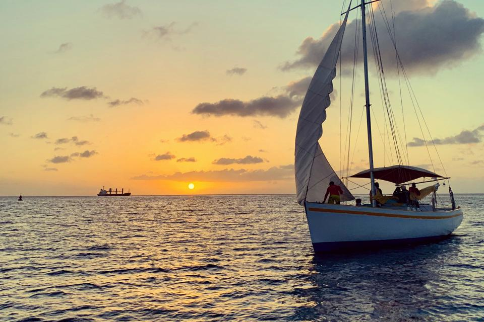 Scenes from a sunset cruise with Savvy Sailing in Grenada, West Indies