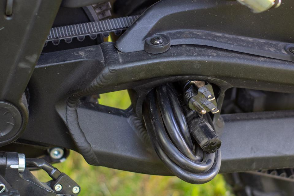 Zero DSR/BF Black Forest Electric Dual-Sport Motorcycle plug