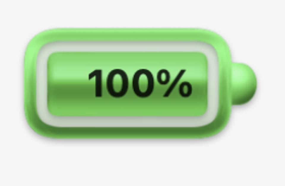 The much-disliked battery icon from the first macOS Big Sur beta.