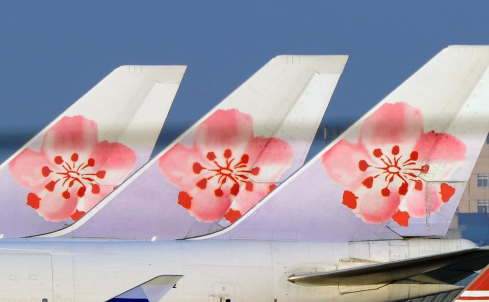 Three Boeing 747 China Airlines passenge