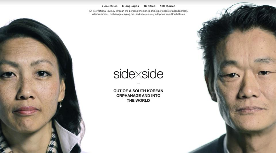 The stories of 100 adoptees were recorded for the 'Side by Side' Project.