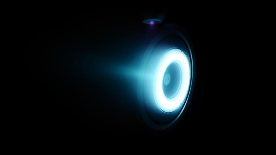 A hot fire test of Orbion's Aurora rocket thruster